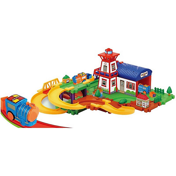 Devik Toys Железная дорога Devik Toys с поездом и вертолётом (свет, звук) devik toys набор машинок devik toys строительная техника