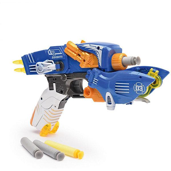 Devik Toys Пистолет-робот 2 в 1 Птерозавр, с 6 мягкими патронами