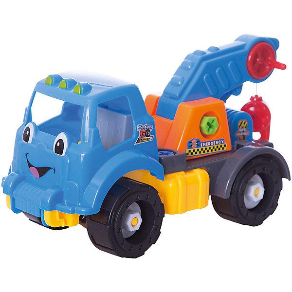 Машинка Devik ToysКран разборныйМашинки<br>Характеристики:<br><br>• возраст: от 5 лет;<br>• материал: пластик;<br>• в наборе: игрушка, ключ, отвертка;<br>• вес упаковки: 840 гр.;<br>• размер упаковки: 16х39х23 см;<br>• страна бренда: Беларусь.<br><br>Разборный кран Devik Toys состоит из частей, которые можно собрать с помощью инструментов из набора. Игрушка имеет красочный дизайн, на кабине техники нарисовано забавное личико. Стрела крана поднимается, что делает игры еще интересней.<br><br>Сборка игрушки развивает логическое мышление и мелкую моторику. Набор выполнен из качественного прочного пластика.<br><br>Игровой набор Devik Toys «Кран разборный» можно купить в нашем интернет-магазине.<br>Ширина мм: 160; Глубина мм: 390; Высота мм: 230; Вес г: 840; Цвет: разноцветный; Возраст от месяцев: 36; Возраст до месяцев: 120; Пол: Мужской; Возраст: Детский; SKU: 8334174;