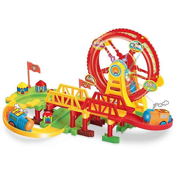 Купить Железнодорожный набор с поездом Devik Toys, 37*28*21см, со сетовыми и звуковыми эффектами, Китай, разноцветный, Мужской