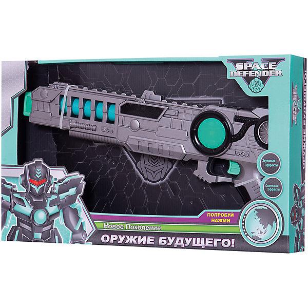 Devik Toys Космический пистолет Space Defender с музыкой и светом, 41 см