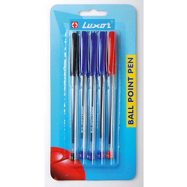Luxor Шариковые ручки Focus 5 шт, 3 цвета