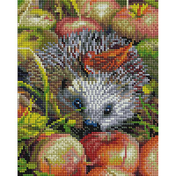 Белоснежка Алмазная мозаика Белоснежка «Яблочный ежик», 20х25 см