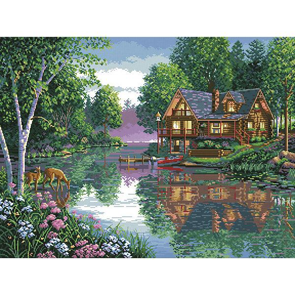 Белоснежка Набор для вышивания Белоснежка «Лесное озеро», 47х60 см канва с рисунком для вышивания бисером hobby