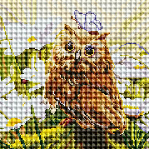 Белоснежка Алмазная мозаика Белоснежка «Сова Везучка», 30х30 см везучка
