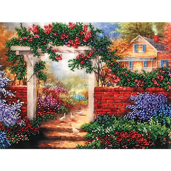 Белоснежка Набор для вышивания бисером Белоснежка «Цветущая усадьба», 24х30 см канвас поцелуй 24х30 см