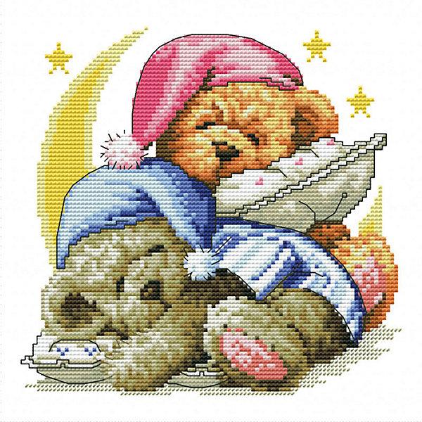 Белоснежка Набор для вышивания Белоснежка «Два медвежонка», 30х30 см набор для творчества белоснежка картина со стразами красная роза 30 30см