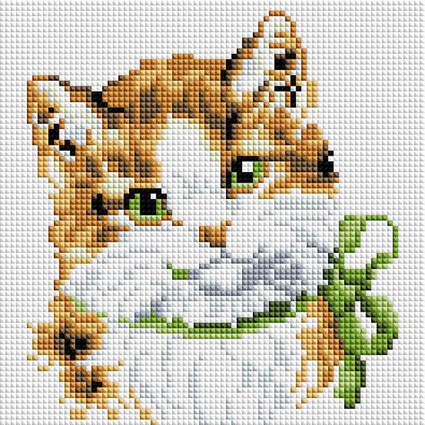 Белоснежка Алмазная мозаика Белоснежка «Кошка Алиса», 20х20 см белоснежка алмазная мозаика белоснежка котенок в корзинке 20х20 см