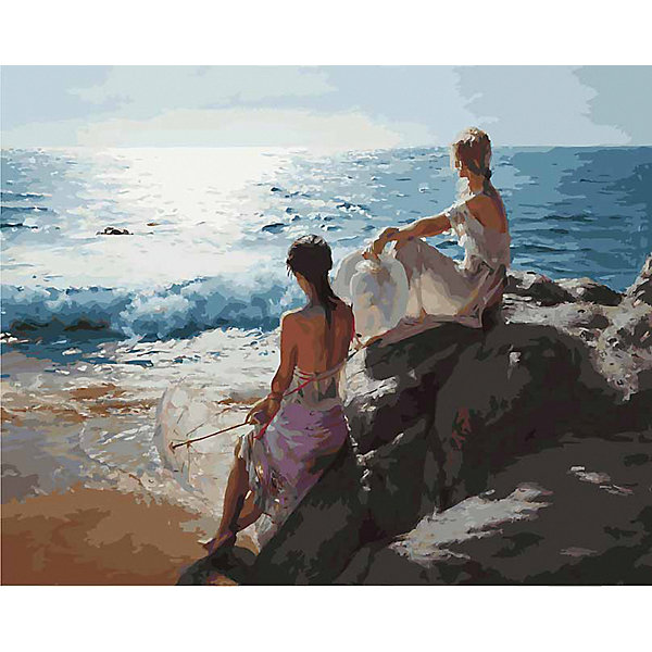 Купить Картина по номерам Белоснежка «У самого синего моря», 40x50 см, Китай, Унисекс