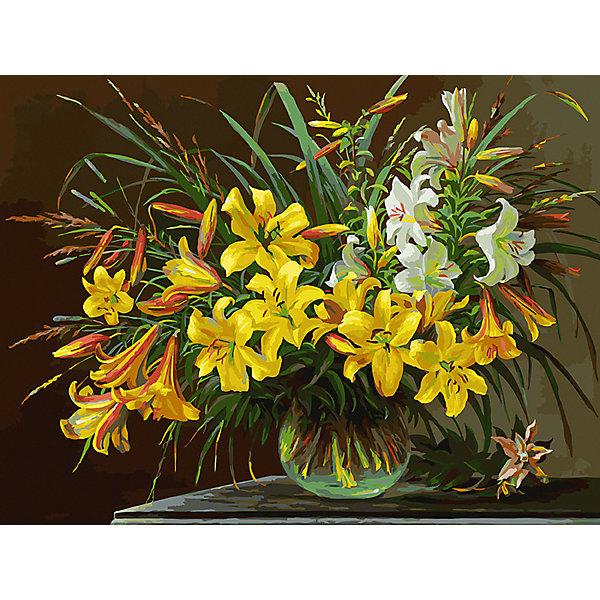 Белоснежка Картина по номерам Белоснежка «Золотая лилия», 30x40 см белоснежка картина по номерам белоснежка по водной глади 30x40 см