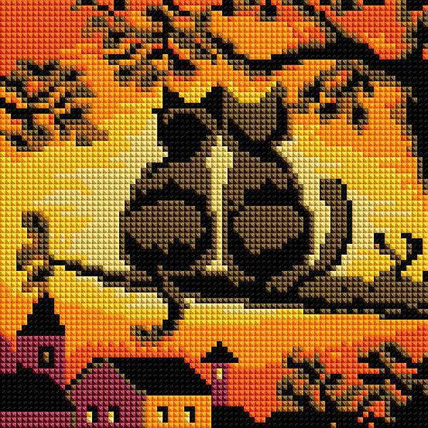 Белоснежка Алмазная мозаика Белоснежка «Две кошки», 20х20 см