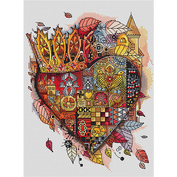 Белоснежка Набор для вышивания Белоснежка «Королевское сердце», 28х30 см канва с рисунком для вышивания бисером hobby