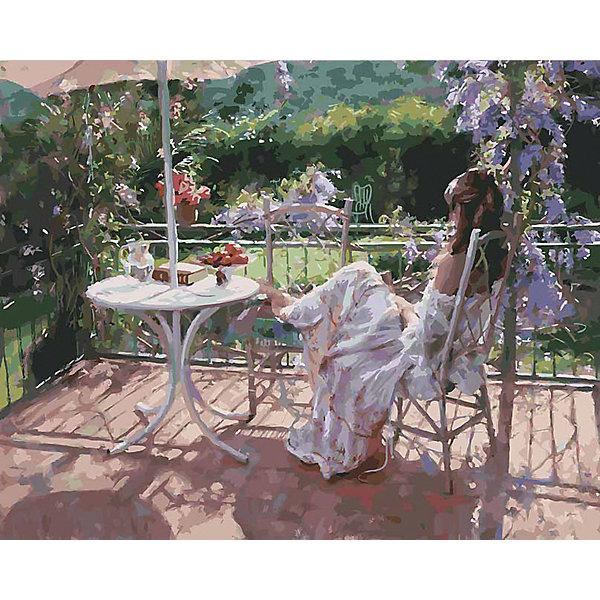 Белоснежка Картина по номерам «Утро на террасе», 40x50 см