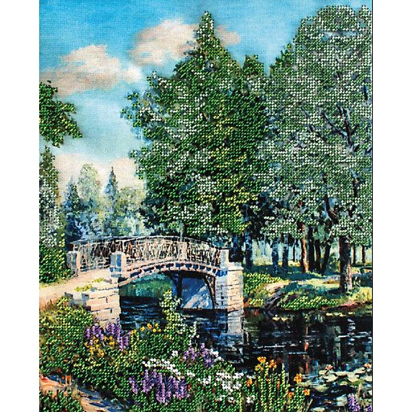 Белоснежка Набор для вышивания бисером Белоснежка «Мостик в парке», 24х30 см f a l картина marlen 24х30 см