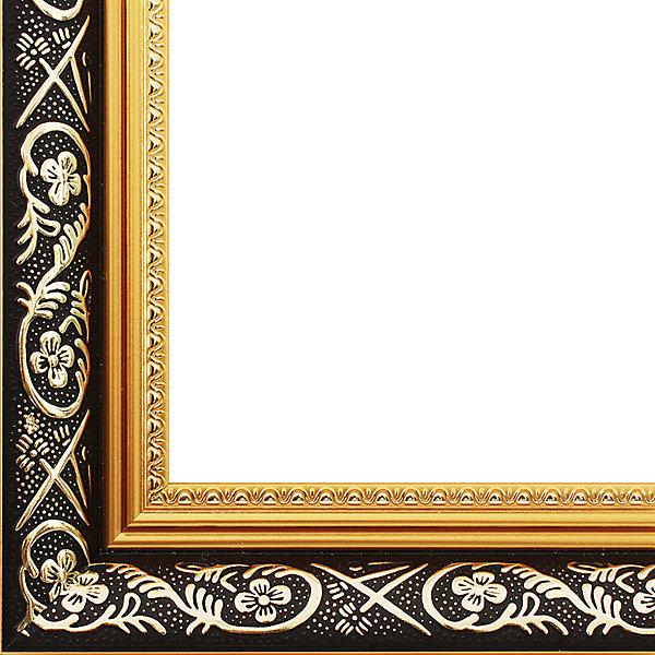 Багетная рама Белоснежка «Sofia», 30x40 смАксессуары для творчества<br>Характеристики:<br><br>• возраст: от 12 лет;<br>• материал: пластик;<br>• размер для картин: 30х40 см;<br>• цвет: темно-коричневый с золотым орнаментом;<br>• сечение: 3;<br>• в комплекте: рама, крепления (2 шт), держатель для холста, подложка из оргалита, инструкция;<br>• тип упаковки: коробка;<br>• размер упаковки: 41х51х2,5 см;<br>• вес в упаковки: 792 гр;<br>• страна бренда: Россия.<br><br>Багетная рама Белоснежка «Sofia» (София) предназначена для оформления картин, вышивок и фотографий. При установке в раму картин на холсте следует учесть, что толщина подрамника больше толщины рамы и сзади будет выступать, рекомендуем дополнительно зафиксировать картину клеем, лист-заглушку в этом случае не вставляют.<br><br>Багетная рама Белоснежка «Sofia», 30x40 см можно купить в нашем интеренет-магазине.<br>Ширина мм: 410; Глубина мм: 510; Высота мм: 25; Вес г: 792; Возраст от месяцев: -2147483648; Возраст до месяцев: 2147483647; Пол: Унисекс; Возраст: Детский; SKU: 8334806;
