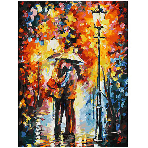 Белоснежка Картина по номерам «Поцелуи под дождем», 30x40 см