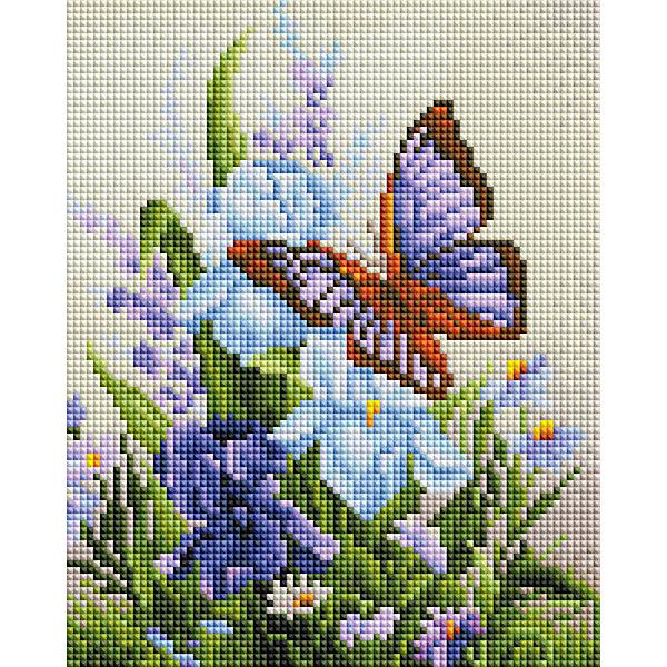 Белоснежка Алмазная мозаика Белоснежка «Бабочка на ирисах», 20х25 см