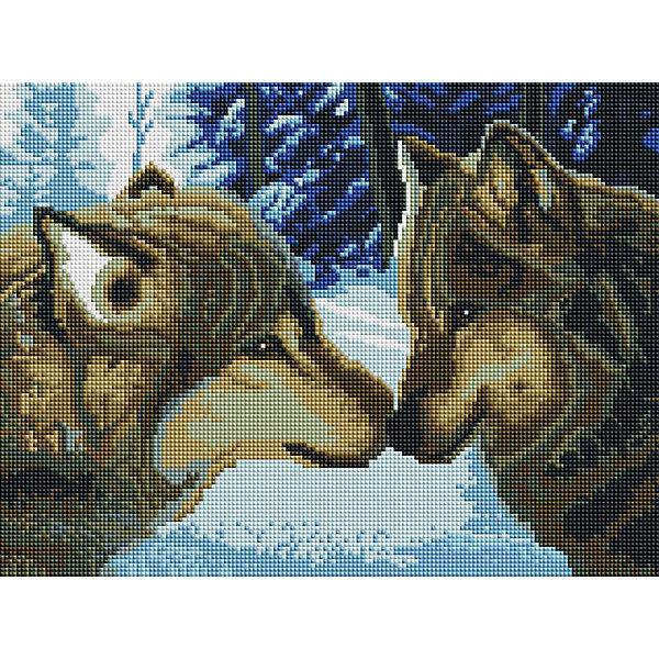 Белоснежка Алмазная мозаика Белоснежка «Два волка», 30х40 см белоснежка алмазная мозаика белоснежка волк 40х30 см