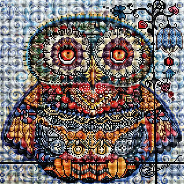 Белоснежка Алмазная мозаика Белоснежка «Волшебная сова», 40х40 см белоснежка декор сова софа большая 3030 bt