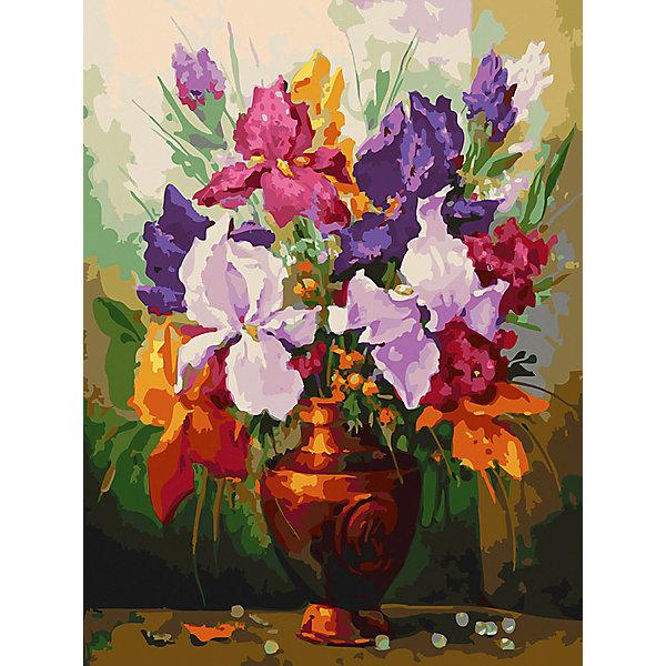 Белоснежка Картина по номерам «Ирисы», 30x40 см