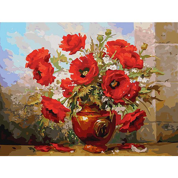 Купить Картина по номерам Белоснежка «Маки», 30x40 см, Китай, Унисекс