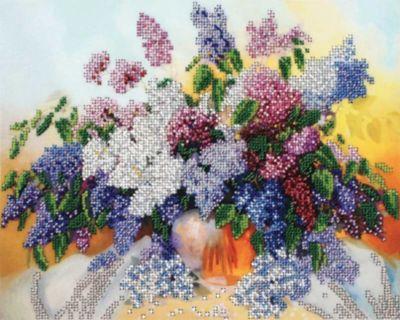 Набор для вышивания бисером Белоснежка «Сирень», 24х30 см, артикул:8334914 - Рукоделие и поделки