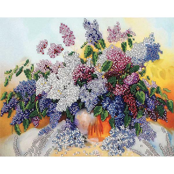 Белоснежка Набор для вышивания бисером Белоснежка «Сирень», 24х30 см набор для творчества белоснежка мозаичная картина 40 50см сирень