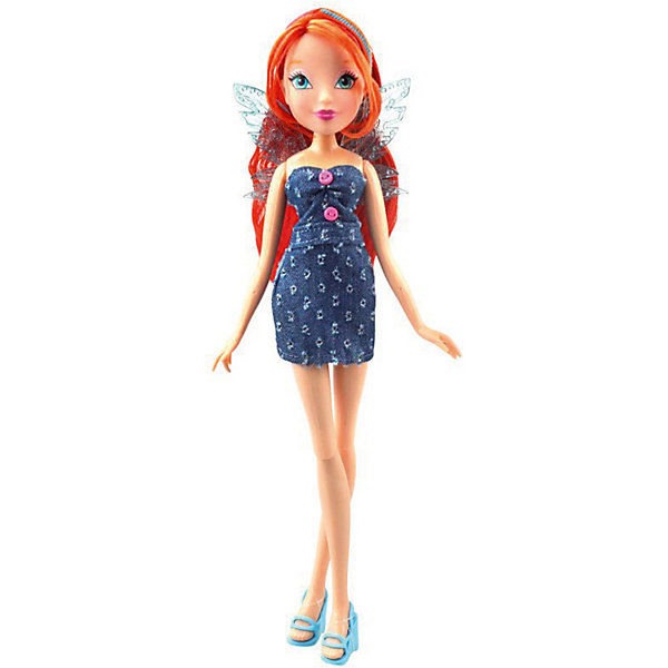 Кукла Winx Club Стильная штучка Блум, 28 смКуклы<br>Характеристики товара:<br><br>• возраст: от 5 лет;<br>• комплект: кукла в одежде и обуви, повязка на голову и крылышки для куклы;<br>• высота куклы: 29 см.;<br>• материал: пластик;<br>• упаковка: блистер на картоне;<br>• размер упаковки: 34 x 13 x 6 см..;<br>• вес: 220 гр.;<br>• наименование бренда: Winx Club;<br><br>Очаровательная шарнирная кукла Winx Club «Стильная штучка - Блум» станет приятным сюрпризом для всех юных поклонниц знаменитого мультфильма Winx Club. На этот раз подружки решили сходить на шоппинг и обновить свой гардероб новыми платьями. Им ли не знать, что джинсовые наряды всегда остаются актуальными и стильными, именно поэтому новая коллекция кукол Винкс выполнена в стиле деним. Дополняет образ стильная повязка на голову. А съемные пластиковые крылышки напоминают о том, что Винкс – в первую очередь волшебницы, умеющие летать. <br><br>Игрушка разнообразит игры по мотивам мультсериала, стимулирует фантазию и удерживает внимание длительное время. Кукла является одной из самых развивающих игрушек. Игра с куклой способствует развитию эмоциональной сферы ребенка. <br><br>Куклы Винкс проходят строгий контроль качества на фабриках производителя. В производстве используются экологически безопасные материалы. Весь товар сертифицирован и не представляет абсолютно никакой опасности как для детей, так и для взрослых.<br><br>Куклу «Стильная штучка - Блум», 29 см., Winx Club можно купить в нашем интернет-магазине.<br>Ширина мм: 250; Глубина мм: 370; Высота мм: 350; Вес г: 2170; Возраст от месяцев: 36; Возраст до месяцев: 60; Пол: Женский; Возраст: Детский; SKU: 8334954;