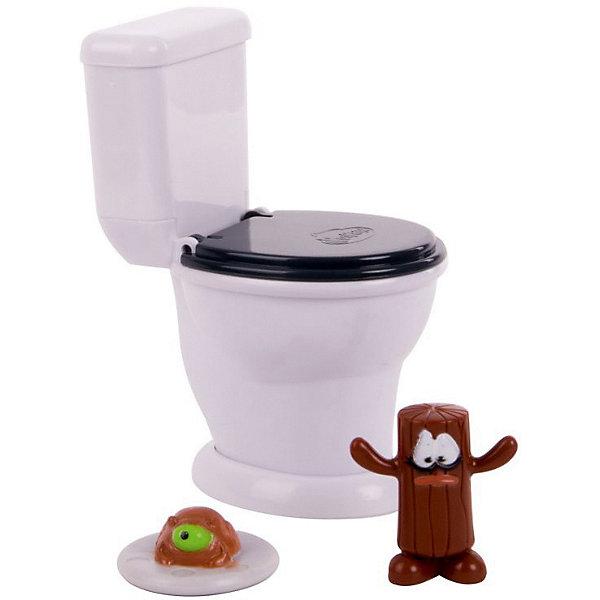 Poopeez Набор фигурок с туалетом Туалет-лончер супер пусковым механизмом