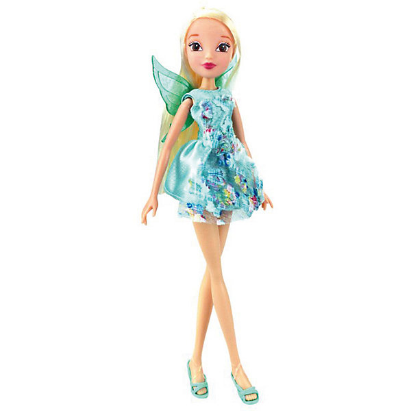 Кукла Winx Club Магическое сияние Стелла, 28 смWinx Club<br>Характеристики товара:<br><br>• возраст: от 5 лет;<br>• комплект: кукла в одежде и обуви, светящаяся прядь для волос, пластиковые крылышки;<br>• высота куклы: 29 см.;<br>• материал: пластик;<br>• упаковка: блистер на картоне;<br>• размер упаковки: 34 x 13 x 6 см..;<br>• вес: 220 гр.;<br>• наименование бренда: Winx Club;<br><br>Очаровательная шарнирная кукла Winx Club Магическое сияние - Стелла,  станет приятным сюрпризом для всех юных поклонниц знаменитого мультфильма Winx Club. Куколка одета в платье пастельных тонов, украшенное вышивкой в виде цветов, светящаяся прядь для волос добавляет образу магии. А съемные пластиковые крылышки напоминают о том, что Винкс – в первую очередь волшебницы, умеющие летать. <br><br>Игрушка разнообразит игры по мотивам мультсериала, стимулирует фантазию и удерживает внимание длительное время. Кукла является одной из самых развивающих игрушек. Игра с куклой способствует развитию эмоциональной сферы ребенка. <br><br>Куклы Винкс проходят строгий контроль качества на фабриках производителя. В производстве используются экологически безопасные материалы. Весь товар сертифицирован и не представляет абсолютно никакой опасности как для детей, так и для взрослых.<br><br>Куклу «Магическое сияние - Стелла», 29 см., Winx Club можно купить в нашем интернет-магазине.<br>Ширина мм: 710; Глубина мм: 160; Высота мм: 350; Вес г: 2120; Возраст от месяцев: 36; Возраст до месяцев: 60; Пол: Женский; Возраст: Детский; SKU: 8334984;