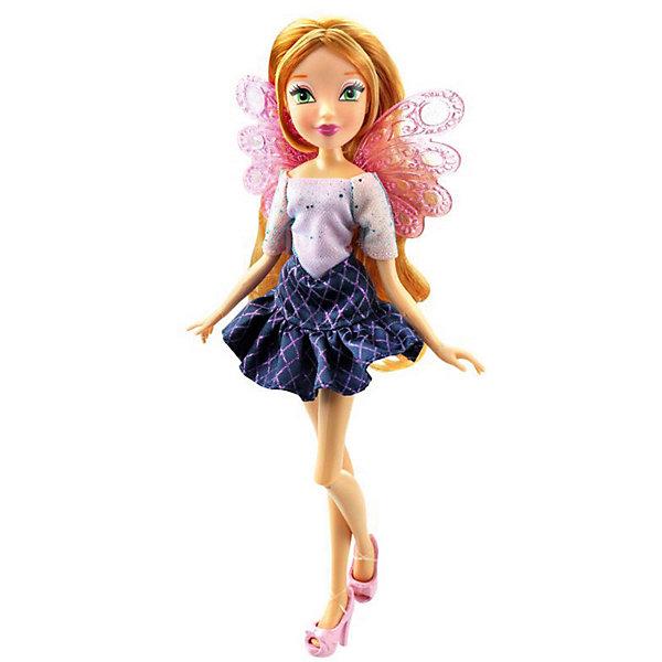 Кукла Winx Club Два наряда Флора, 28 смПопулярные игрушки<br>Характеристики товара:<br><br>• возраст: от 5 лет;<br>• комплект: кукла в одежде и обуви, дополнительный комплект одежды для сна, пластиковые крылышки;<br>• высота куклы: 29 см.;<br>• материал: пластик;<br>• упаковка: блистер на картоне;<br>• размер упаковки: 34 x 13 x 6 см..;<br>• вес: 220 гр.;<br>• наименование бренда: Winx Club;<br><br>Очаровательная шарнирная кукла Winx Club «Два наряда - Флора» станет приятным сюрпризом для всех юных поклонниц знаменитого мультфильма Winx Club. Куколка одета в гламурный топ с отрезным воротником и юбку в ромбик. особенностью этой коллекции является  дополнительный комплект одежды для сна. А съемные пластиковые крылышки напоминают о том, что Винкс – в первую очередь волшебницы, умеющие летать. <br><br>Игрушка разнообразит игры по мотивам мультсериала, стимулирует фантазию и удерживает внимание длительное время. Кукла является одной из самых развивающих игрушек. Игра с куклой способствует развитию эмоциональной сферы ребенка. <br><br>Куклы Винкс проходят строгий контроль качества на фабриках производителя. В производстве используются экологически безопасные материалы. Весь товар сертифицирован и не представляет абсолютно никакой опасности как для детей, так и для взрослых.<br><br>Куклу «Два наряда - Флора», 29 см., Winx Club можно купить в нашем интернет-магазине.<br>Ширина мм: 770; Глубина мм: 220; Высота мм: 380; Вес г: 2740; Возраст от месяцев: 36; Возраст до месяцев: 60; Пол: Женский; Возраст: Детский; SKU: 8335000;