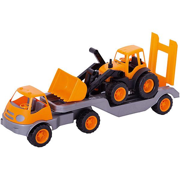 Mochtoys Погрузчик Mochtoys с прицепом и трактором, печатающая головка hp 84 c5019a черный для designjet 10ps 20ps 50ps