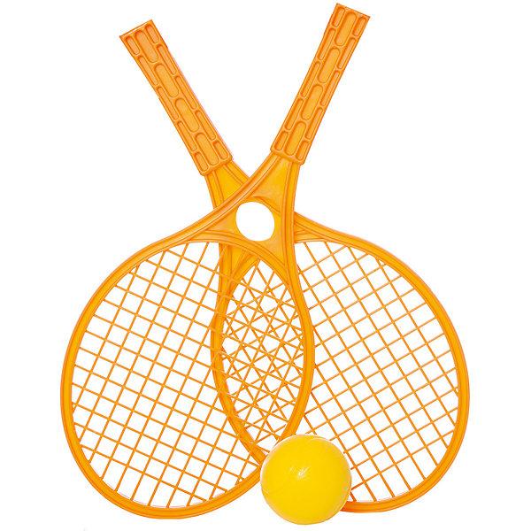 Набор для тенниса Mochtoys,оранжевыйБадминтон и теннис<br>Характеристики:<br><br>• цвет: оранжевый;<br>• возраст: от 3 лет;<br>• материал: пластик;<br>• вес: 210 гр;<br>• размер: 42,5х19х6,5 см;<br>• страна бренда: Польша;<br>• бренд: Mochtoys.<br><br>Отдых на природе отныне станет активнее и увлекательнее, ведь с таким набором от бренда Mochtoys достаточно лишь найти подходящее место и насладиться игрой. Игра в теннис способствует развитию таких физических навыков, как ловкость и скорость реакции.<br><br>В комплект набора входит мячик и две ракетки. У ракеток очень удобные прочные ручки, поэтому даже у начинающих теннисистов не возникнет проблем с освоением этой игры.<br><br>Игрушка изготовлена из высококачественного, экологически безопасного пластика, соответствующего всем стандартам, санитарным требованиям и нормам, предъявляемым к продукции детского назначения.<br><br>Набор для тенниса Mochtoys можно купить в нашем интернет-магазине.<br>Ширина мм: 425; Глубина мм: 190; Высота мм: 65; Вес г: 210; Цвет: оранжевый; Возраст от месяцев: 36; Возраст до месяцев: 2147483647; Пол: Унисекс; Возраст: Детский; SKU: 8335178;
