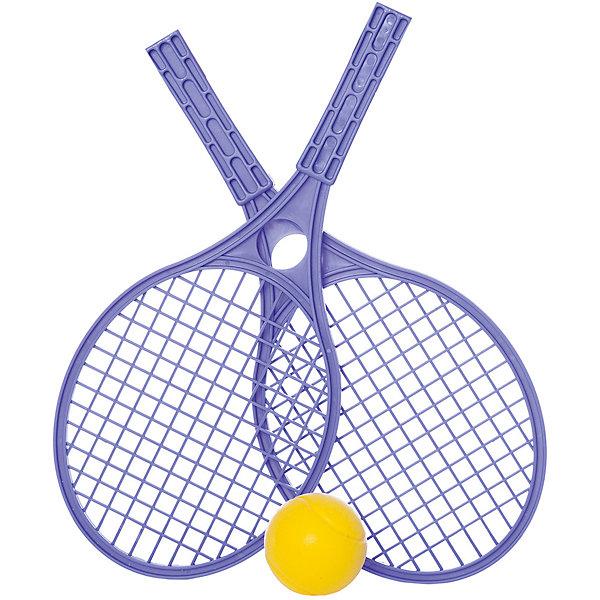 Набор для тенниса Mochtoys,синийБадминтон и теннис<br>Характеристики:<br><br>• цвет: синий;<br>• возраст: от 3 лет;<br>• материал: пластик;<br>• вес: 210 гр;<br>• размер: 42,5х19х6,5 см;<br>• страна бренда: Польша;<br>• бренд: Mochtoys.<br><br>Отдых на природе отныне станет активнее и увлекательнее, ведь с таким набором от бренда Mochtoys достаточно лишь найти подходящее место и насладиться игрой. Игра в теннис способствует развитию таких физических навыков, как ловкость и скорость реакции.<br><br>В комплект набора входит мячик и две ракетки. У ракеток очень удобные прочные ручки, поэтому даже у начинающих теннисистов не возникнет проблем с освоением этой игры.<br><br>Игрушка изготовлена из высококачественного, экологически безопасного пластика, соответствующего всем стандартам, санитарным требованиям и нормам, предъявляемым к продукции детского назначения.<br><br>Набор для тенниса Mochtoys можно купить в нашем интернет-магазине.<br>Ширина мм: 425; Глубина мм: 190; Высота мм: 65; Вес г: 210; Цвет: синий; Возраст от месяцев: 36; Возраст до месяцев: 2147483647; Пол: Унисекс; Возраст: Детский; SKU: 8335190;