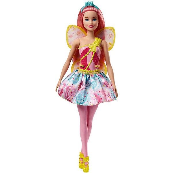 Фото - Mattel Кукла Barbie Dreamtopia Волшебные Феи с розовыми волосами, 29 см кукла barbie и собака с новорожденными щенками 29 см fdd43