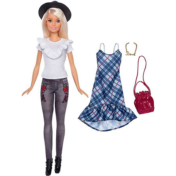 Mattel Кукла Barbie Игра с модой Happy Hipster Doll, 29 см