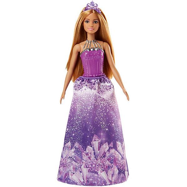 Кукла Barbie Dreamtopia Волшебные принцессы Блестящая гора, 29 смКуклы<br>Характеристики:<br><br>• возраст: от 3 лет;<br>• материал: пластик, текстиль;<br>• высота куклы: 29 см;<br>• в наборе: кукла, аксессуары;<br>• вес упаковки: 160 гр.;<br>• размер упаковки: 32х12х6 см;<br>• страна бренда: США.<br><br>Кукла Barbie Dreamtopia «Волшебные принцессы» – принцесса Блестящей горы, что подтверждает принт на ее красочной съемной юбке. Корсет снять нельзя. Барби обладает яркой сказочной внешностью, ее длинные густые волосы можно причесывать и собирать в прически. На голове красуется тиара.<br><br>У игрушки подвижные части тела. Лицо тщательно прорисовано, краски устойчивы к механическому воздействию. Набор выполнен из качественных безопасных материалов.<br><br>Куклу Barbie Dreamtopia «Волшебные принцессы» Блестящая гора, 29 см можно купить в нашем интернет-магазине.<br>Ширина мм: 55; Глубина мм: 115; Высота мм: 325; Вес г: 240; Возраст от месяцев: 36; Возраст до месяцев: 2147483647; Пол: Женский; Возраст: Детский; SKU: 8335300;