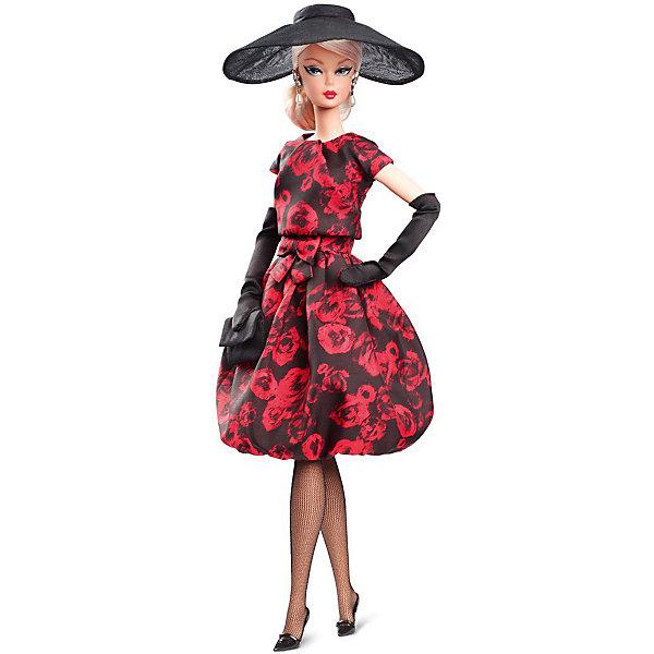 Mattel Коллекционная кукла Barbie Оригинальное розовое коктейльное платье, 29 см коктейльное платье с драпировкой bebe платья и сарафаны коктейльные