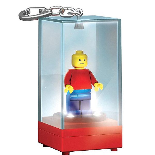 LEGO Брелок-фонарик для ключей LEGO «Футляр для минифигур» красный, синий цена в Москве и Питере
