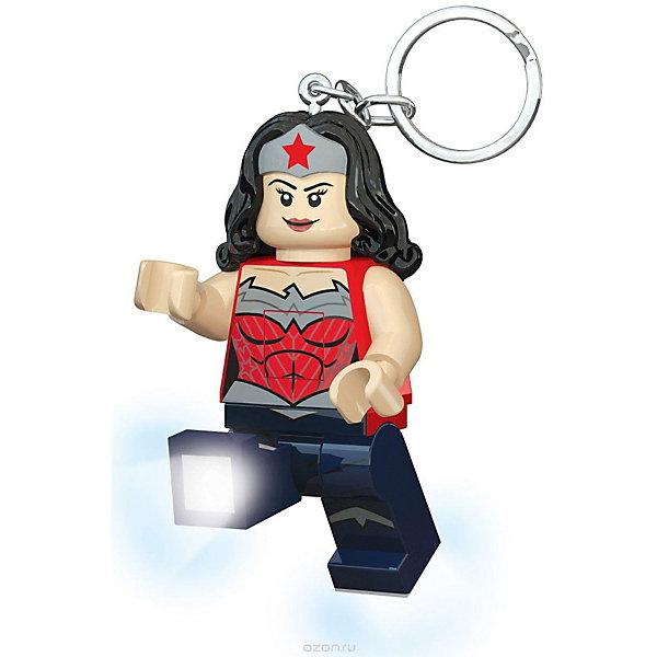 LEGO Брелок-фонарик для ключей LEGO Super Heroes, Wonderwoman usb перезаряжаемый высокой яркости ударопрочный фонарик дальнего света конвой sos факел мощный самозащита 18650 батареи