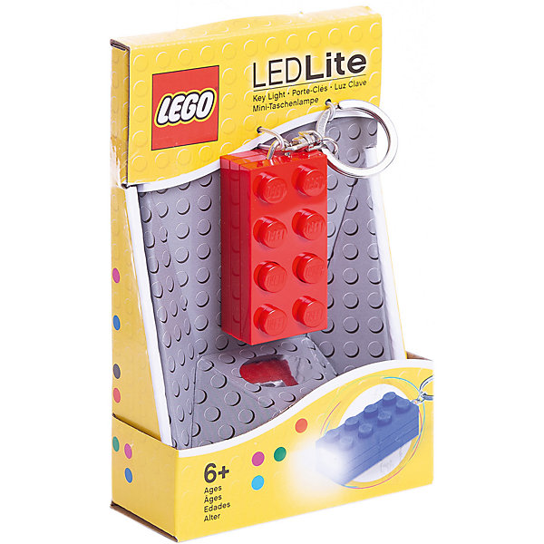 LEGO Брелок-фонарик для ключей LEGO, красный цена