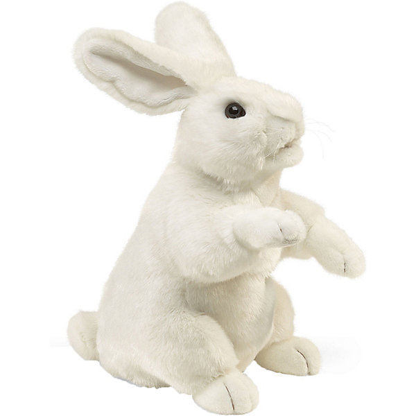 Folkmanis Мягкая игрушка на руку Folkmanis Белый кролик, 43 см мягкие игрушки folkmanis сова 30 см