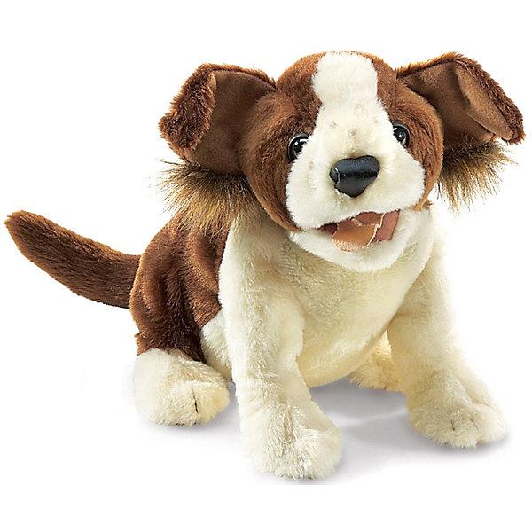 Мягкая игрушка на руку Folkmanis Собака, 35 смМягкие игрушки на руку<br>Характеристики:<br><br>• возраст: от 3 лет;<br>• материал: текстиль, полиэстер, пластик;<br>• высота игрушки: 35 см;<br>• вес упаковки: 145 гр.;<br>• размер упаковки: 36х15х23 см;<br>• страна бренда: США.<br><br>Собака от Folkmanis имеет реалистичный внешний вид, выразительную мордочку, плюшевую шерстку. Модель входит в серию игрушек для домашнего театра. Игрушка надевается на руку и тут же оживает благодаря подвижным лапкам и пасти. Щенок детально проработан, чтобы увеличить эффект правдоподобности во время представления.<br><br>Мягкая игрушка-марионетка выполнена из экологичных безопасных материалов. При необходимости изделие можно бережно постирать руками.<br><br>Собаку Folkmanis, 35 см можно купить в нашем интернет-магазине.<br>Ширина мм: 36; Глубина мм: 15; Высота мм: 23; Вес г: 145; Возраст от месяцев: 36; Возраст до месяцев: 2147483647; Пол: Унисекс; Возраст: Детский; SKU: 8336379;