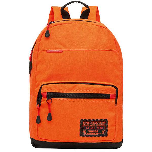 Рюкзак Grizzly, оранжевыйРюкзаки<br>Характеристики:<br><br>• возраст от: 10 лет;<br>• цвет: оранжевый;<br>• материал: полиэстер;<br>• размер рюкзака: 28х41х18 см.;<br>• объем рюкзака: средний (20-30 л.);<br>• вес рюкзака: 450 гр.;<br>• тип рюкзака: повседневный, городской;<br>• спинка: укрепленная;<br>• тип застёжки: молния;<br>• количество отделений: 1 отделение;<br>• количество карманов: 3 внешних/ 1 внутренний;<br>• дополнительная ручка-петля;<br>• износостойкая обивка;<br>• регулируемые укрепленные лямки;<br>• стильный дизайн;<br>• бренд, страна бренда: Grizzly, Россия.<br><br>Рюкзак Grizzly выполнен из высококачественного полиэстера. Рюкзак имеет ручку-петлю для подвешивания и две удобные лямки, длина которых регулируется с помощью пряжек. Модель выполнена с одним основным отделением, которое закрывается на молнии. Передняя стенка рюкзака дополнена накладным карманом на молнии. Дополнен карманом на молнии на передней стенке, объемным карман на молнии на передней стенке, карманом быстрого доступа в верхней части рюкзака. Модель выполнена с укрепленной спинкой и лямками, имеется дополнительная ручка-петля.<br><br>Молодежный и яркий, легкий и функциональный - такой рюкзак станет практичным аксессуаром на каждый день.<br><br>Рюкзак Grizzly, оранжевый, можно купить в нашем интернет-магазине.<br>Ширина мм: 280; Глубина мм: 40; Высота мм: 410; Вес г: 450; Цвет: оранжевый; Возраст от месяцев: 120; Возраст до месяцев: 2147483647; Пол: Мужской; Возраст: Детский; SKU: 8339050;