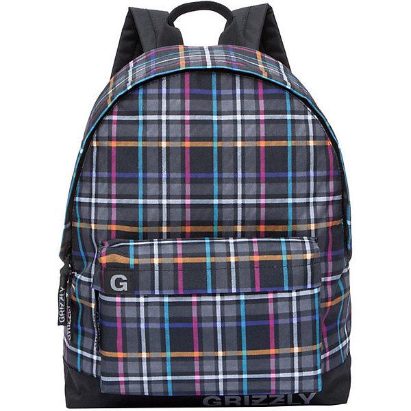 Рюкзак Grizzly, цветная клеткаРюкзаки<br>Характеристики:<br><br>• возраст от: 10 лет;<br>• цвет: черный в клетку;<br>• материал: нейлон, полиэстер;<br>• размер рюкзака: 32х41х12 см.;<br>• объем рюкзака: маленький (до 20 л.);<br>• вес рюкзака: 410 гр.;<br>• тип рюкзака: повседневный, городской;<br>• спинка: жесткая вставка;<br>• тип застёжки: молния;<br>• количество отделений: 1 отделение;<br>• количество карманов:1 внешний/ 1 внутренний;<br>• дополнительная ручка-петля;<br>• износостойкая обивка;<br>• регулируемые укрепленные лямки;<br>• стильный дизайн;<br>• бренд, страна бренда: Grizzly, Россия.<br><br>Рюкзак Grizzly выполнен из высококачественного нейлона в сочетании с полиэстером и оформлен оригинальным принтом в цветную клетку. Рюкзак имеет ручку-петлю для подвешивания и две удобные лямки, длина которых регулируется с помощью пряжек. Модель имеет одно основное отделение на молнии, с внутренним подвесным карманом. Передняя сторона оформлена объемным карманом на застежке-молнии. Тыльная сторона рюкзака имеет укрепленную спинку.<br><br>Молодежный и яркий, легкий и функциональный - такой рюкзак станет практичным аксессуаром на каждый день. Рюкзаки от Grizzly наилучшим образом подчеркнут вашу креативность, индивидуальность и неповторимый стиль!<br><br>Рюкзак Grizzly, камуфляж, можно купить в нашем интернет-магазине.<br>Ширина мм: 320; Глубина мм: 40; Высота мм: 410; Вес г: 357; Цвет: разноцветный; Возраст от месяцев: 120; Возраст до месяцев: 2147483647; Пол: Мужской; Возраст: Детский; SKU: 8339058;
