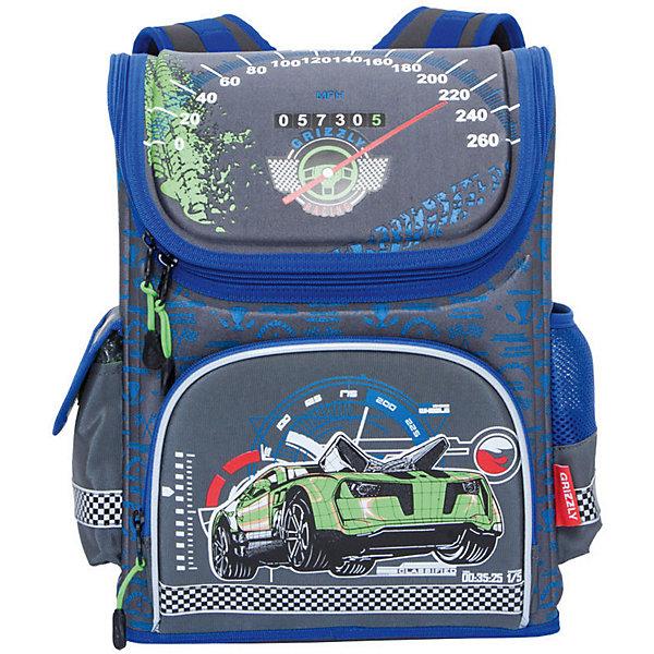Рюкзак школьный Grizzly, серыйРюкзаки<br>Характеристики:<br><br>• возраст от: 6 лет;<br>• цвет: серый/синий;<br>• материал: неопрен, нейлон;<br>• размер рюкзака: 28х37х16 см.;<br>• объем рюкзака: средний ( 20 л.);<br>• вес рюкзака:840 гр.;<br>• тип рюкзака: школьный;<br>• ососбенности: отделение-органайзер, светоотражающие вставки;<br>• спинка: ортопедическая, воздухопроницаемая;<br>• тип застёжки: молния;<br>• количество отделений: 1 отделения;<br>• количество карманов: 3 внешних/6 внутренних;<br>• дополнительная ручка-петля;<br>• износостойкая обивка;<br>• регулируемые анатомические лямки;<br>• стильный дизайн;<br>• бренд, страна бренда: Grizzly, Россия.<br><br>Школьный ранец Grizzly для мальчика - это красивый и удобный ранец, который подойдет всем, кто хочет разнообразить свои школьные будни. Многофункциональный ранец станет незаменимым спутником вашего ребенка в походах за знаниями.  <br><br>Ранец выполнен из плотного материала и оформлен оригинальным ярким принтом с изображением спортивного автомобиля. Содержит одно вместительное отделение, закрывающееся на застежку-молнию с двумя бегунками. Внутри отделения имеется разделительная перегородка-органайзер с карманом из сетки. На лицевой стороне расположен карман на молнии. По бокам ранца находятся два кармана один открытый, другой с клапаном на липучке. Жесткая спинка разработана с учетом анатомии ребенка, что делает ношение ранца максимально удобным. Эластичные лямки позволяют легко и быстро отрегулировать изделие в соответствии с ростом. Ранец оснащен ручкой для удобной переноски в руке. Светоотражающие элементы придают дополнительную безопасность в темное время суток.<br><br>Школьный ранец Grizzly для мальчика, серый/синий, можно купить в нашем интернет-магазине.<br>Ширина мм: 280; Глубина мм: 160; Высота мм: 370; Вес г: 842; Цвет: серый; Возраст от месяцев: 120; Возраст до месяцев: 2147483647; Пол: Мужской; Возраст: Детский; SKU: 8339068;