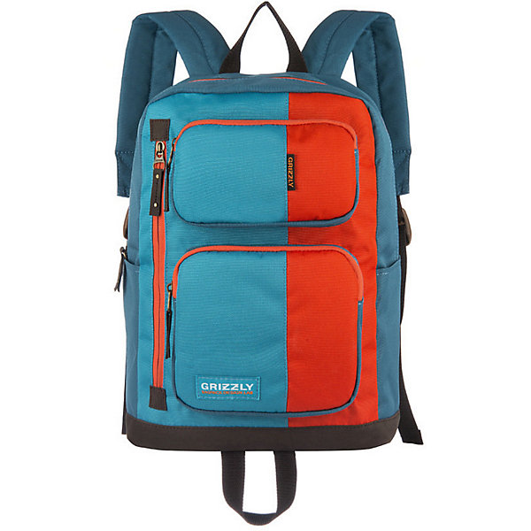 Рюкзак Grizzly, оранжевый/голубой/синийРюкзаки<br>Характеристики:<br><br>• возраст от: 10 лет;<br>• цвет: синий/оранжевый/голубой;<br>• материал: таслан;<br>• размер рюкзака: 30х41х21 см.;<br>• объем рюкзака: маленький (до 20 л.);<br>• вес рюкзака: 630 гр.;<br>• тип рюкзака: повседневный, городской;<br>• ососбенности: водоотталкивающая пропитка, органайзер для принадлежностей;<br>• спинка: жёсткая вставка;<br>• тип застёжки: молния;<br>• количество отделений: 2 основных отделения.;<br>• количество карманов: 6 внешних/ 2 внутренних;<br>• дополнительная ручка-петля;<br>• износостойкая обивка выдержит любую погоду и прослужит не один год;<br>• регулируемые укрепленные лямки;<br>• стильный дизайн;<br>• бренд, страна бренда: Grizzly, Россия.<br><br>Городской рюкзак Grizzly выполнен из высококачественного таслана. Изделие имеет одно отделение, два объемных кармана на молнии на передней стенке, 2 боковых кармана, внутренний карман на молнии, внутренний укрепленный карман для ноутбука, укрепленную спинку, карман быстрого доступа в передней части рюкзака, карман быстрого доступа на задней стенке, дополнительную ручку-петлю и укрепленные лямки.<br><br>Рюкзак выполнен в ярком соченатнии цветов и станет верным и рациональным спутником во время путешествий и повседневной носки.<br><br>Рюкзак Grizzly, синий/оранжевый/голубой, можно купить в нашем интернет-магазине.<br>Ширина мм: 300; Глубина мм: 40; Высота мм: 410; Вес г: 630; Цвет: синий/оранжевый; Возраст от месяцев: 120; Возраст до месяцев: 2147483647; Пол: Мужской; Возраст: Детский; SKU: 8339076;
