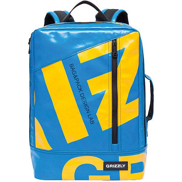 Рюкзак Grizzly, голубойРюкзаки<br>Характеристики:<br><br>• возраст от: 10 лет;<br>• цвет: голубой;<br>• материал: брезент глянцевый;<br>• размер рюкзака: 29х40х10 см.;<br>• объем рюкзака: маленький (до 20 л.);<br>• вес рюкзака: 600 гр.;<br>• тип рюкзака: повседневный, городской;<br>• ососбенности: органайзер для принадлежностей;<br>• спинка: жесткая вставка;<br>• тип застёжки: молния, клапан на магнитных кнопках;<br>• количество отделений: 1 отделение;<br>• количество карманов: 4 внешних/ 2 внутренних;<br>• дополнительная ручка-петля;<br>• износостойкая обивка выдержит любую погоду и прослужит не один год;<br>• регулируемые укрепленные лямки;<br>• стильный дизайн;<br>• бренд, страна бренда: Grizzly, Россия.<br><br>Молодежный рюкзак Grizzly выполнен из высококачественного глянцевого брезента и прослужит вам не один сезон. Изделие имеет одно отделение, карман на молнии на передней стенке, внутренний укрепленный карман для ноутбука, укрепленную спинку, карман быстрого доступа на задней стенке, дополнительную ручку-петлю и укрепленные лямки.<br><br>Яркий голубой рюкзак выполнен в стильном дизайне с оригинальным принтом, он станет удобным и функциональным спутником во время путешествий и повседневной носки на каждый день.<br><br>Рюкзак Grizzly можно купить в нашем интернет-магазине.<br>Ширина мм: 290; Глубина мм: 40; Высота мм: 400; Вес г: 597; Цвет: голубой; Возраст от месяцев: 120; Возраст до месяцев: 2147483647; Пол: Мужской; Возраст: Детский; SKU: 8339088;