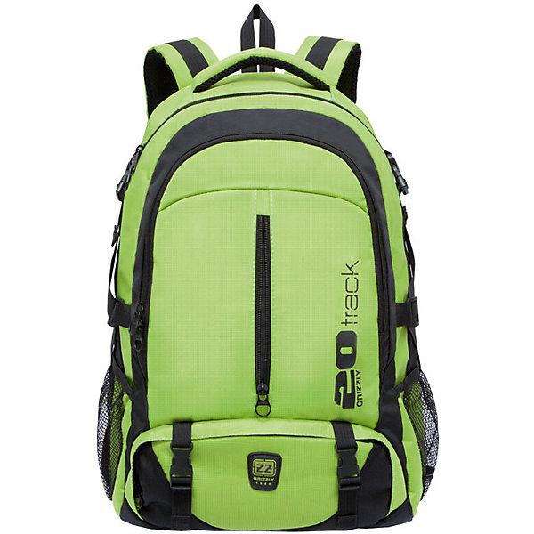 Рюкзак Grizzly, салатовыйРюкзаки<br>Характеристики:<br><br>• возраст от: 10 лет;<br>• цвет: салатовый;<br>• материал: полиэстер, нейлон;<br>• размер рюкзака: 32х53х21 см.;<br>• объем рюкзака: средний (20 -30 л.);<br>• вес рюкзака: 1 кг.;<br>• тип рюкзака: повседневный, спортивный;<br>• ососбенности: карман для ноутбука;<br>• спинка: жесткая ортопедическая вставка;<br>• тип застёжки: молния;<br>• количество отделений: 2 отделения;<br>• количество карманов: 2 внешних/ 2 внутренних;<br>• дополнительная ручка-петля;<br>• износостойкая обивка;<br>• регулируемые укрепленные лямки;<br>• стильный дизайн;<br>• бренд, страна бренда: Grizzly, Россия.<br><br>Рюкзак в спортивном стиле Grizzly выполнен из сочетания высококачественного нейлона и полиэстра. Рюкзак имеет петлю для подвешивания и две удобные лямки, длина которых регулируется с помощью пряжек. Модель имеет два основных отделения на молнии, один из которых дополнен карманом для ноутбука. На передней стенке расположены карман на молнии и объемный карман на застежке-молнии. Боковые стенки рюкзака имеют карманы из сетки. Рюкзак выполнен с анатомической спинкой и нагрудной стяжкой-фиксатором.<br><br>Яркий рюкзак станет удобным и функциональным аксессуаром во время путешествий и повседневной носки на каждый день.<br><br>Рюкзак Grizzly, салатовый, можно купить в нашем интернет-магазине.<br>Ширина мм: 320; Глубина мм: 40; Высота мм: 530; Вес г: 1087; Цвет: светло-зеленый; Возраст от месяцев: 120; Возраст до месяцев: 2147483647; Пол: Мужской; Возраст: Детский; SKU: 8339110;