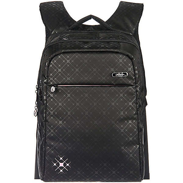 Рюкзак Grizzly, чёрныйРюкзаки<br>Характеристики:<br><br>• возраст от: 10 лет;<br>• цвет: черный;<br>• материал: нейлон;<br>• размер рюкзака: 28х40х16 см.;<br>• объем рюкзака: средний (20 -30 л.);<br>• вес рюкзака: 790 гр.;<br>• тип рюкзака: повседневный, городской;<br>• ососбенности: пенал-органайзер;<br>• спинка: жесткая ортопедическая вставка;<br>• тип застёжки: молния;<br>• количество отделений: 2 отделения;<br>• количество карманов: 3 внешних/ 2 внутренних;<br>• дополнительная ручка-петля;<br>• износостойкая обивка;<br>• регулируемые укрепленные лямки;<br>• стильный дизайн;<br>• бренд, страна бренда: Grizzly, Россия.<br><br>Стильный рюкзак Grizzly выполнен из высококачественного нейлона и оформлен оригинальным фирменным принтом. Рюкзак имеет укрепленную петлю для подвешивания и две удобные лямки, длина которых регулируется с помощью пряжек. На лицевой стороне расположено два основных отделения, в них содержатся карман на молнии, внутренний карман-пенал для карандашей ивнутренний укрепленный карман для ноутбука. Также в верхней части рюкзака находится карман быстрого доступа на молнии. Изделие застегивается на застежку-молнию и имеет нагрудную стяжку-фиксатор и ортопедическую спинку.<br><br>Черный рюкзак станет удобным и функциональным аксессуаром во время путешествий и повседневной носки на каждый день.<br><br>Рюкзак Grizzly, черный, можно купить в нашем интернет-магазине.<br>Ширина мм: 280; Глубина мм: 40; Высота мм: 400; Вес г: 790; Цвет: черный; Возраст от месяцев: 120; Возраст до месяцев: 2147483647; Пол: Женский; Возраст: Детский; SKU: 8339128;